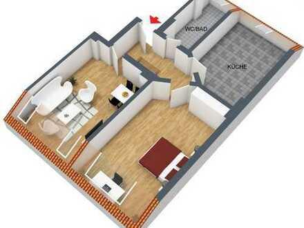 Schöne, helle, ruhige und frisch renovierte Dachgeschosswohnung