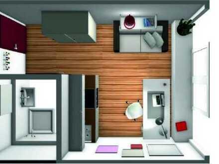 Exklusive möbl. 1-Zimmer-Wohnung inkl. TG-Stellplatz