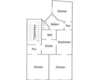 Preiswerte, gepflegte 3,5-Zimmer-Wohnung mit Balkon in Velbert
