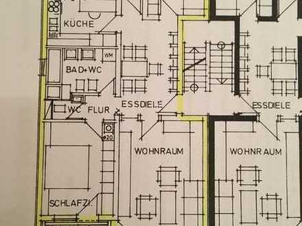 Ansprechende 3,5-Zi-Wohnung mit EBK,Einbauschränke,2 Balkone (Morgen-/Abendsonne) und Keller in GD