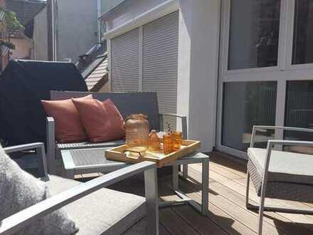 Absolutes Highlight im Altstadtkern vo Karlsruhe-Durlach Maisonette-Wohnung mit Dachterrasse