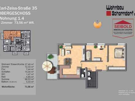 3 Zimmer 73,56 m² Wfl. Obergeschoss