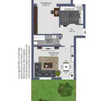 Schöne, geräumige 2-Zimmer Wohnung mit Vorgarten und großem Keller in München Ramersdorf