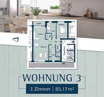 Stilvolle 3 Zimmer Wohnung, Hochparterre, am Klostergarten in Husum