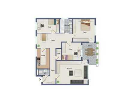 Wunderschöne 4,5 Zimmer Wohnung in ruhiger Feldrandlage von Renningen sucht neuen Eigentümer