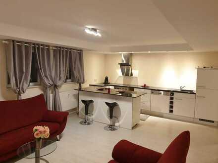 helle vollmöblierte Souterrain 3,5-Zimmer-Wohnung mit EBK in Waldbronn