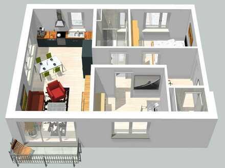 Lichtdurchflutete 3 Zimmer-Neubauwohnung im 1. OG