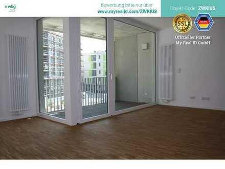 Letzte Chance! Lichtdurflutete Wohnung mit bodentiefen Fenstern und Parkettboden im Neubau-Erstbezug
