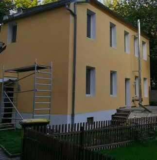 Erstbezug nach Sanierung: schöne 4-Zimmer-Wohnung/freistehendes Haus mit Terrasse in Leipzig