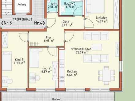 Neubauprojekt Harthausen - Haus 1 - Wohnung 4