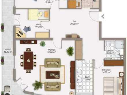 Gepflegte 4-Zimmer-Wohnung mit Balkon und Einbauküche in Hofheim am Taunus