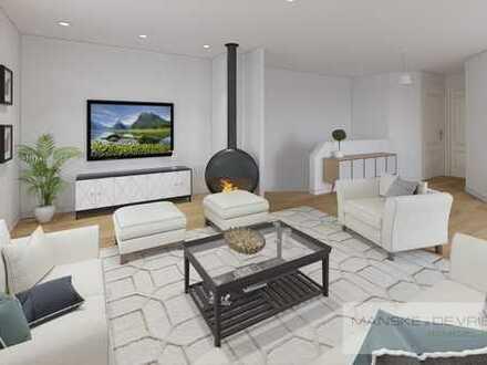 Geräumige Wohnung über 2 Etagen mit Garten und Stellplatz in ruhiger Seitenstraße