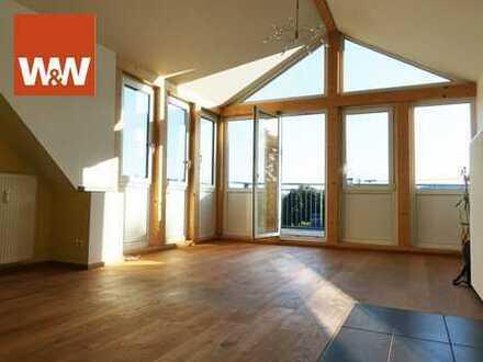Sonnige Maisonette-Eigentumswohnung mit Balkon - in Hof