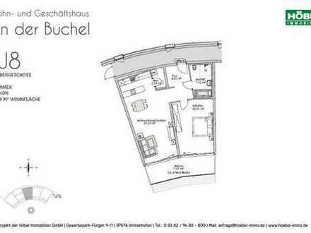 Hochwertige, barrierefreie Neubau-Whg., 2 ZKB mit Balkonanteil im Zentrum von Marktoberdorf (KfW 55)