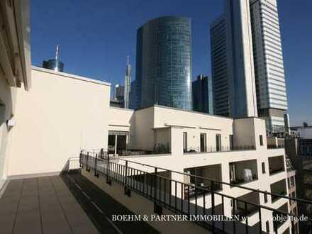 PENTHOUSE im BANKENVIERTEL: Dachgarten + Skylineblick, Erstbezug! Optional mit Möblierung
