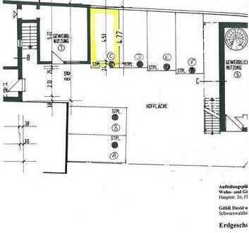 Pkw-Stellplatz im Zentrum von Gaggenau zu vermieten