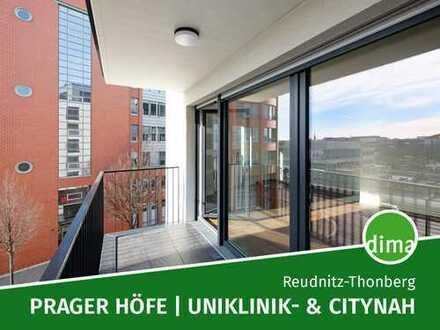 PRAGER HÖFE nähe Uniklinik u. City | Erstbezug, Balkon, HWR, Parkett, Fußbodenheiz., Aufzug, Keller
