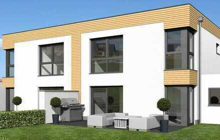 """KfW-55-Doppelhaushälften mit Garage DH 3   """"Trespa-Wood-Decor""""   An der Gärtnerei   Ehmen"""