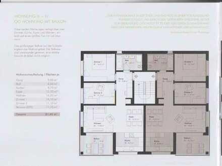 Erstbezug: exklusive 3,5-Zimmer-Wohnung mit Einbauküche und Balkon in Hildrizhausen