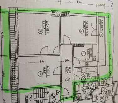 Gepflegte 3-Zimmer-Wohnung 82qm Walle / Vegesacker Straße zu vermieten, ohne Makler