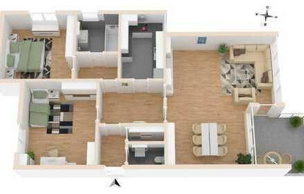 Helle, geräumige Wohnung in guter Lage mit Aussicht