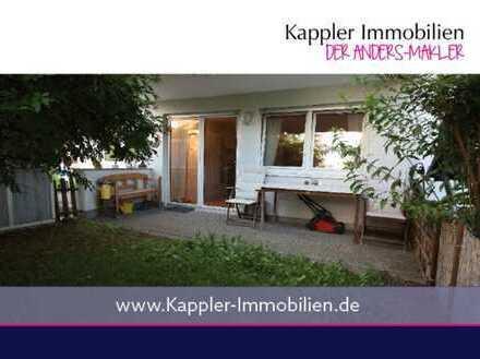 Ruhige 1 Zimmer-Wohnung mit Terrasse und Garten I Kappler Immobilien