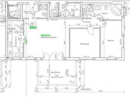 Gepflegte 3-Raum-Wohnung mit Balkon, Einbauküche und Doppeltiefgaragein Hohenlohekreis