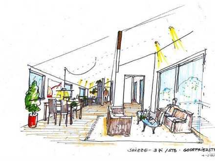 Erstbezug: Charmantes Penthouse mit großzügiger Dachterrasse mitten im Grünen