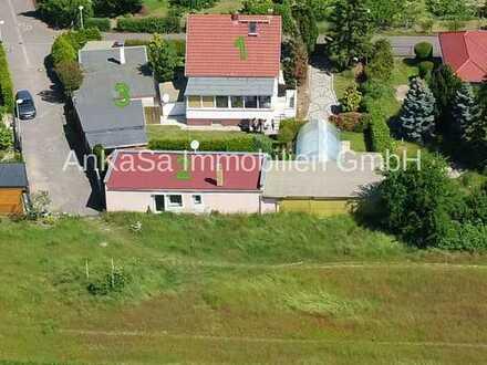 AnKaSa GmbH*Generations-Wohnen*Leipzig*Einfamilienhaus+Bungalow+Werkstatt+Pool+Garten+TG+Carport