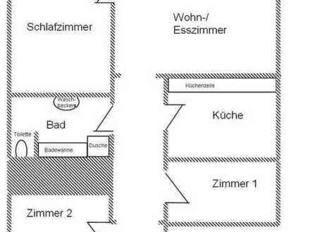 Renovierte 4-Zimmer-Wohnung mit Einbauküche in Heubach Mitte