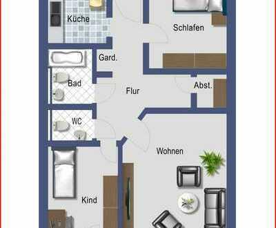 Nr.2 Schöne 3 ZKB Wohnung - Stadtmitte in Alzey