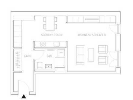 Neuwertige luxuriöse 1,5-Zimmer-Wohnung mit EBK in Schwabing, München