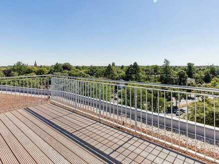 Exklusive 2 Zimmmerwohnung mit EBK, Balkon und Dachterrasse