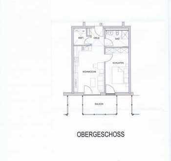 Erstbezug: schöne 2-Zimmer-Wohnung mit Balkon in Marktoberdorf - Thalhofen