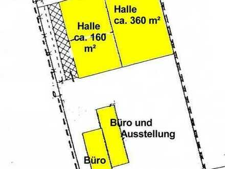 10_IB2268 Gut vermietete Produktionshalle mit Ausstellungs- und Bürofläche / ca. 20 km westlich v...