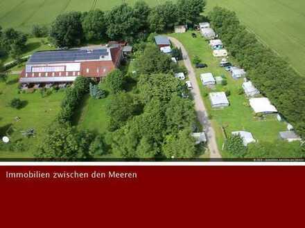 Konkurrenzlose Lage ! Dithmarscher Landhof mit 10 Ferienwohnungen u. Campingplatz auf 1,2 ha Land