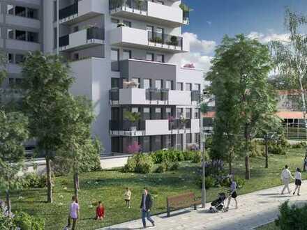 Wohnen mit guter Laune! Moderne 2-Zimmer-Wohnung mit ca. 21m² Balkon in sprudelnder Atmosphäre