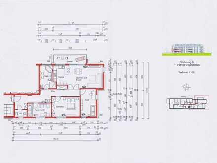 Wunderschöne, sonnige 4-Zimmerwohnung mit großem Süd-Balkon und offener Küche