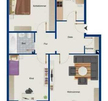 Schöne drei Zimmer Wohnung in München, Bogenhausen