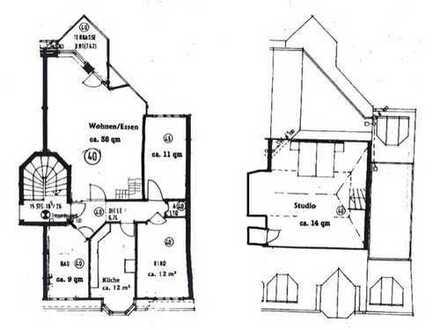 Helle 3,5 Zimmer-Maisonette-Dachgeschoss-Wohnung mit Balkon und Einbauküche in Findorff-Weidedamm