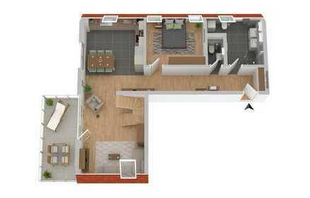Geniale 3,5 Zi.-DG-Maisonette-Wohnung in Mössingen, direkt im Altort