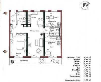 Schöne 4-Zimmer-Wohnung mit Balkon und EBK in Freiburg im Breisgau