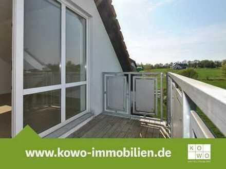 3-Zimmer-Dachgeschosswohnung mit Balkon und Blick auf das Schloss Colditz
