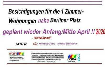 1.6.2020 früher od. später Lu City n. Berliner Platz - helle 1 ZKB 37 m² Wohnen/Arbeiten Balkon EBK