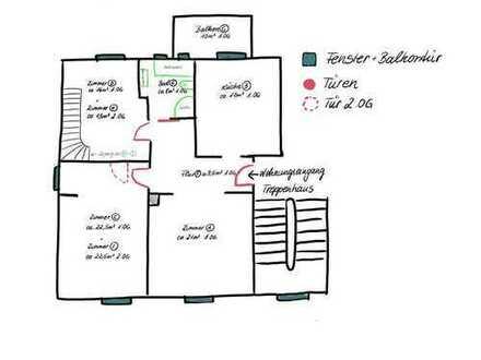 Modernisierte 5-Zimmer-Maisonette-Wohnung mit Balkon in Speyer