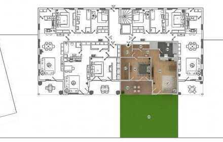 HAUS 1 * West-Carrée * Ampfing • NEUBAU 2-Zi.-Wohnung mit Terrasse und 84m² Garten (WE 4)