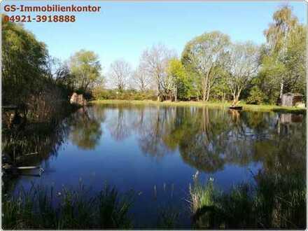 Freizeitgrundstück mit Teich und Wald nördlich von Aurich