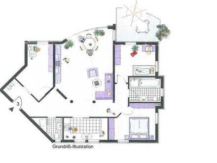 Stilvolle, gepflegte 4,5-Zimmer-Erdgeschosswohnung mit Garten in Besigheim