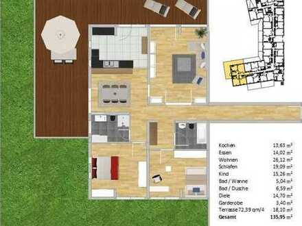 Helle 3-Zimmer Wohnung mit großzügiger Außenfläche in Rohrbach