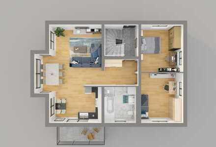 Energieeffiziente, moderne 3,5 Zimmer-Wohnung im Herzen von Rheinstetten - provisionsfrei